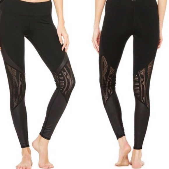 59b351115b ALO Yoga Pants   Like New Vitality Blackstiny Hole   Poshmark